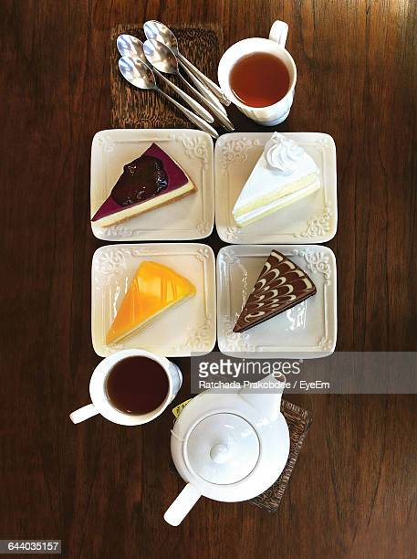 Close-Up Of Coffee And Cake