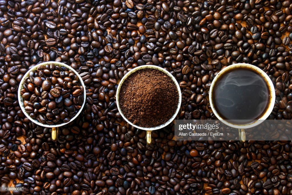Close-Up Of Coffee Beans : Stock Photo