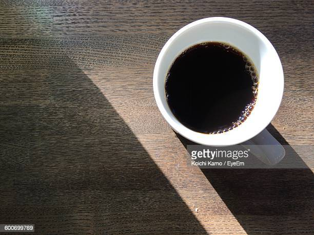 Close-Up Of Coffee Cup Of Table
