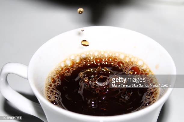 close-up of coffee cup - black coffee stock pictures, royalty-free photos & images