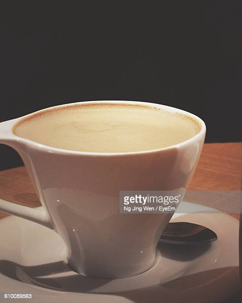 Close-Up Of Coffee Cup Served On Table