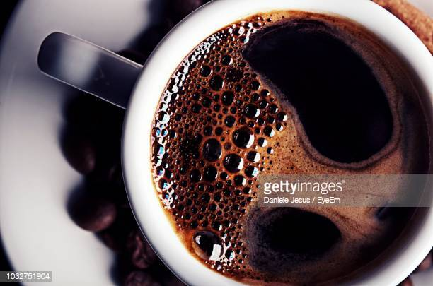 close-up of coffee in cup - coffee stock pictures, royalty-free photos & images
