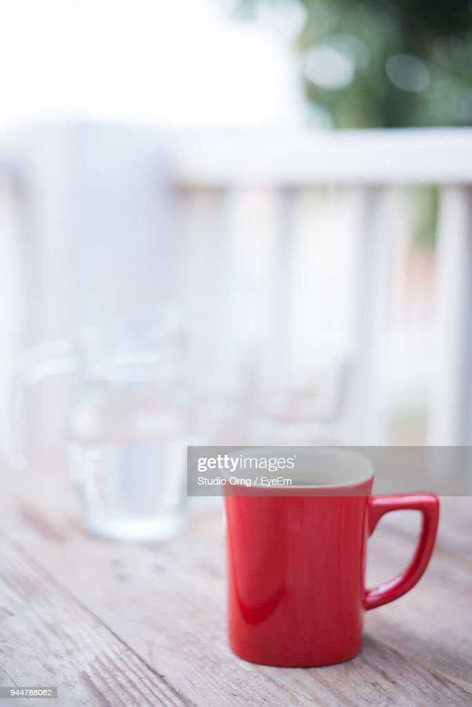Close-Up Of Coffee Mug On Table : Stock Photo