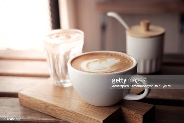 close-up of coffee on table - mocha stock photos and pictures