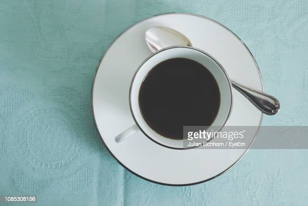 close-up of coffee on table - saucer stock pictures, royalty-free photos & images