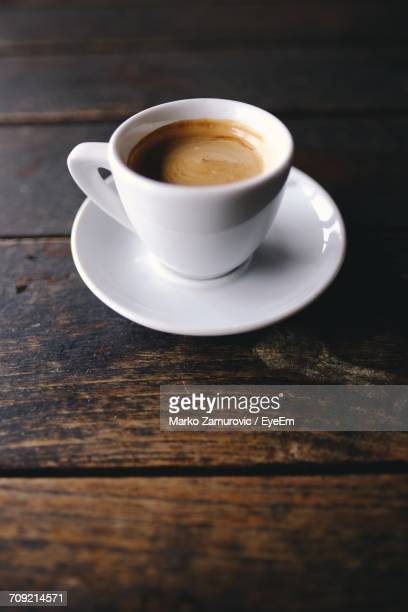 close-up of coffee on table - espresso stock photos and pictures