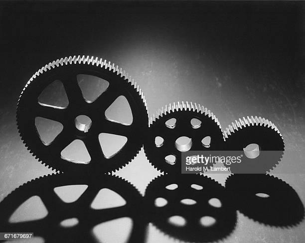 Close-Up Of Cog Wheels
