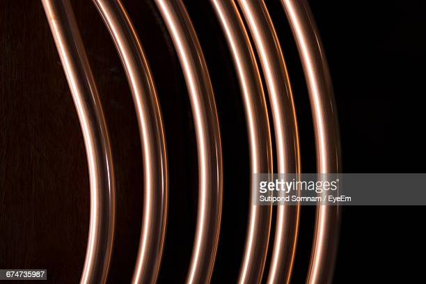 Close-Up Of Coiled Copper On Table