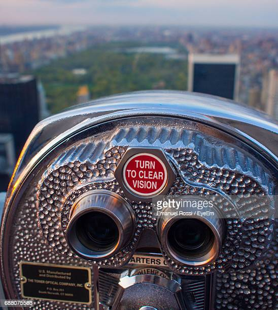 Close-Up Of Coin-Operated Binoculars At Observation Point