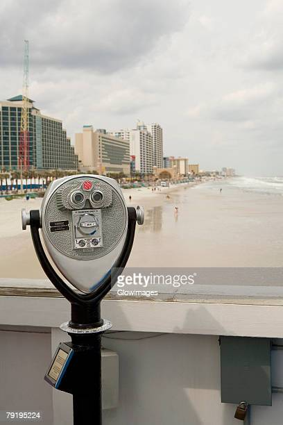 Close-up of coin-operated binoculars, Daytona Beach, Florida, USA