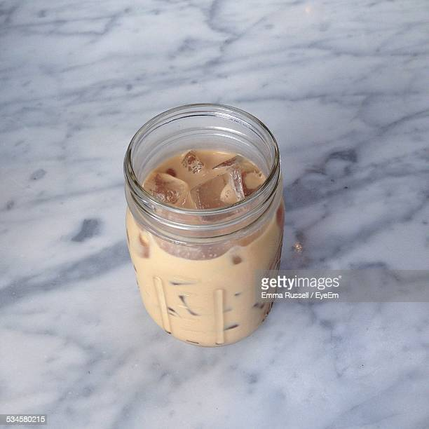 Close-Up Of Cold Coffee