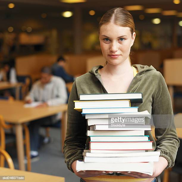 Close-up of college students in library