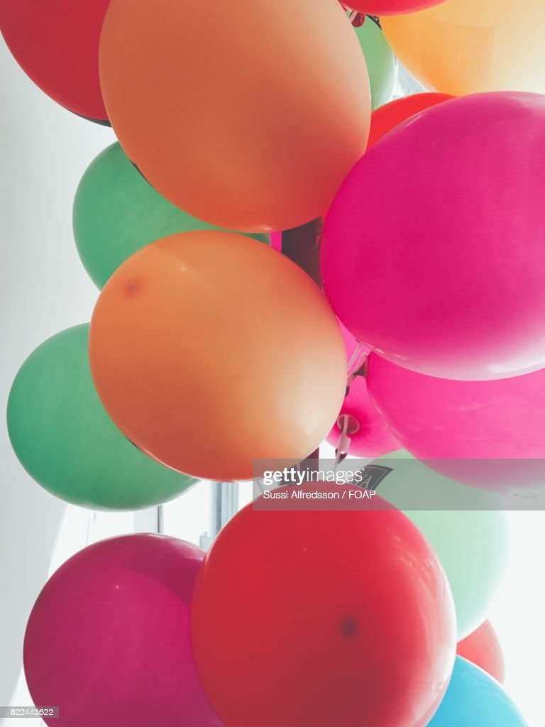 Close-up of colorful balloons : Stock Photo