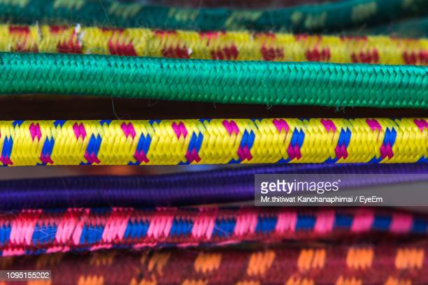 Close-Up Of Colorful Climbing Ropes
