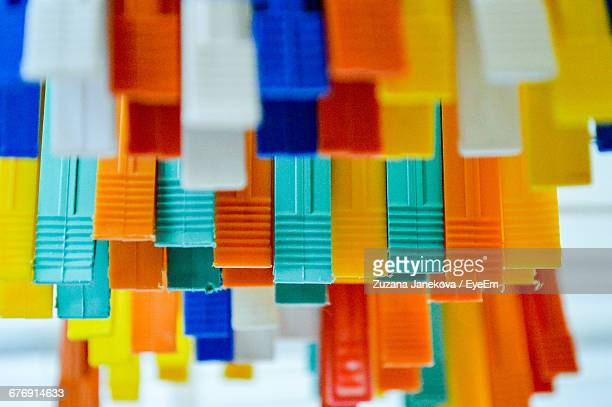 close-up of colorful clothespins - zuzana janekova stock pictures, royalty-free photos & images