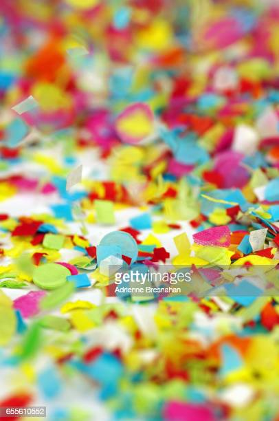 Close-Up of Colorful Confetti Falling