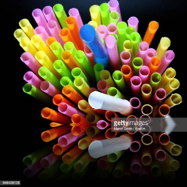 Close-Up Of Colorful Drinking Straws