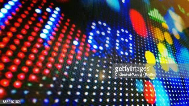 close-up of colorful illuminated lighting equipment - liquid crystal display stock pictures, royalty-free photos & images
