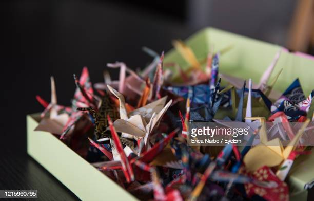 close-up of colorful origami - treviso italy stock pictures, royalty-free photos & images