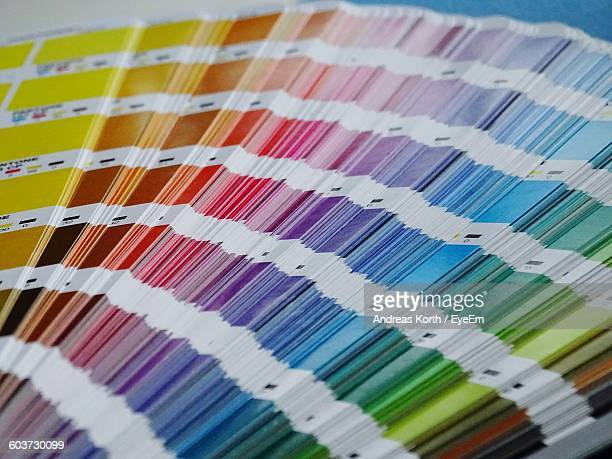 Close-Up Of Colorful Swatches