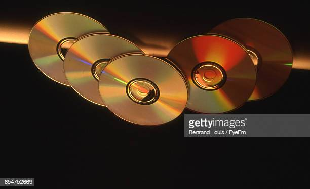 Close-Up Of Compact Discs