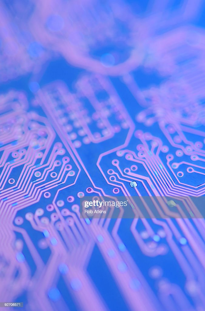 Closeup Of Computer Circuitry Stock Photo | Getty Images