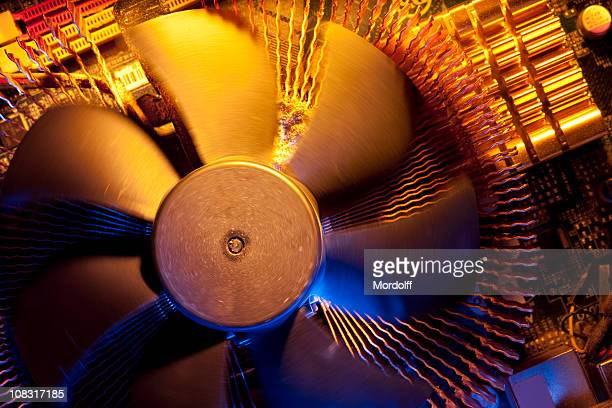close-up of computer cpu fan - cpu stock pictures, royalty-free photos & images