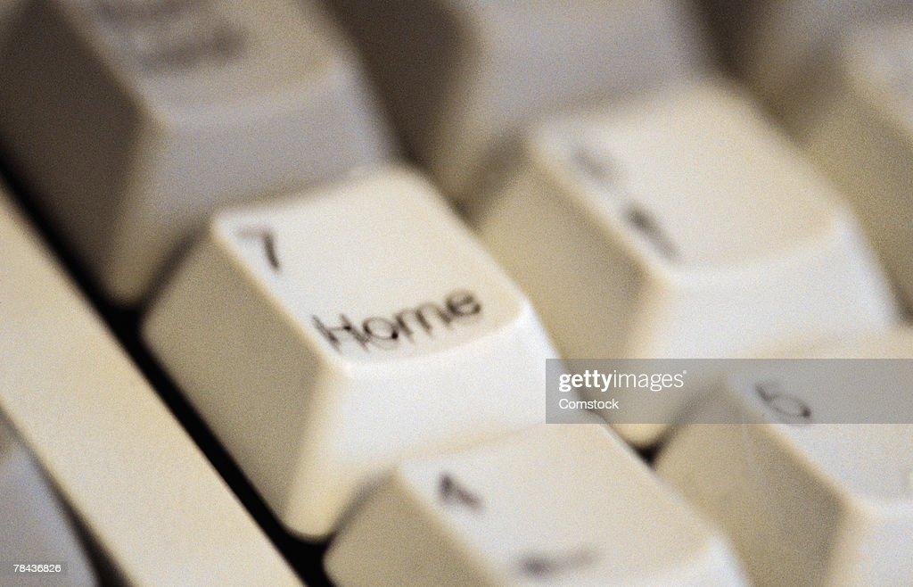 Close-up of computer keyboard : Stockfoto