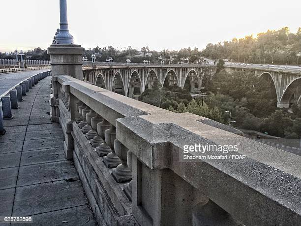 Close-up of concrete bridge