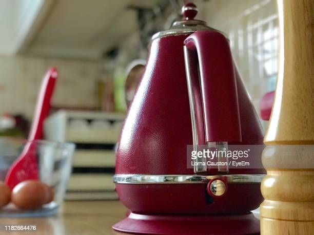 close-up of container on table at home - shiny stock pictures, royalty-free photos & images