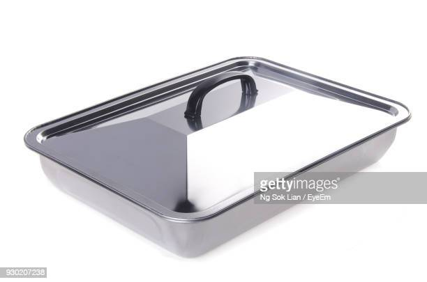 close-up of container over white background - lid stock photos and pictures