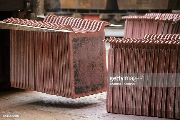 Closeup of copper anodes in the warehouse of the Aurubis AG on December 04 in Hamburg Germany Aurubis AG is Europe's largest copper producer Photo by...