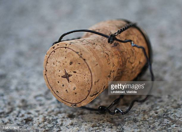 close-up of cork - champagne cork stock photos and pictures