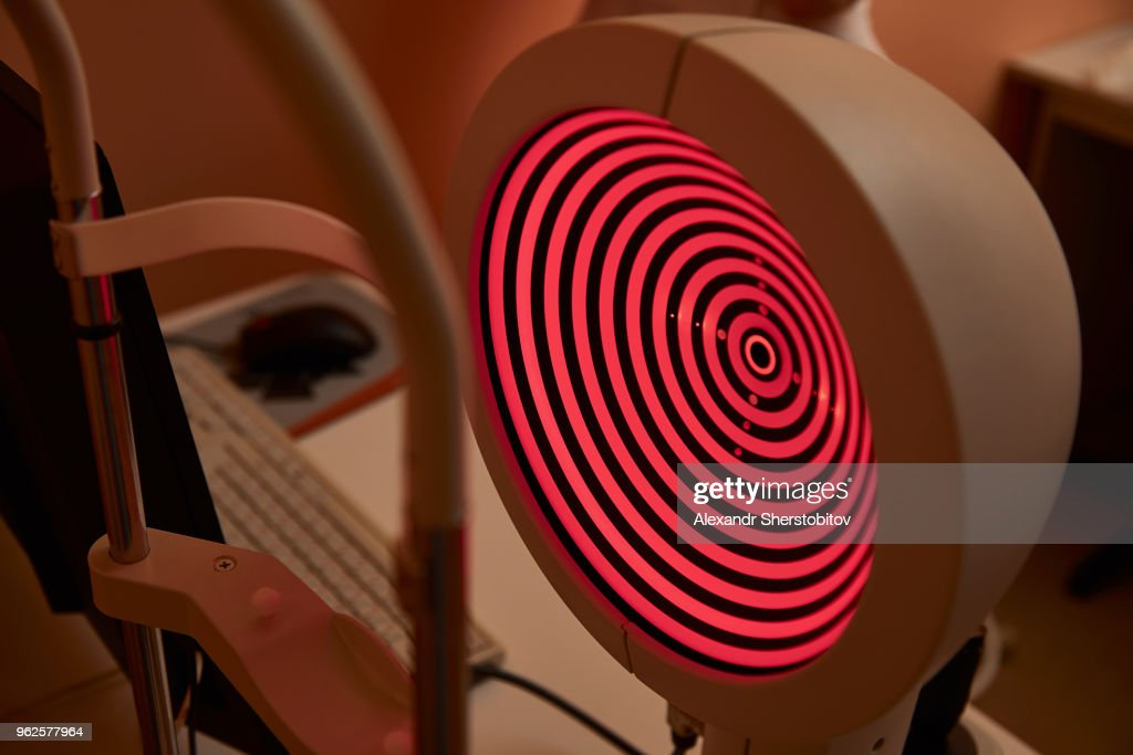 Close-up of corneal topographer in hospital : Stock Photo