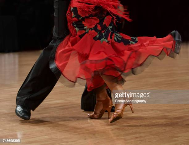 close-up of couple flamenco dancing - flamenco dancing stock photos and pictures