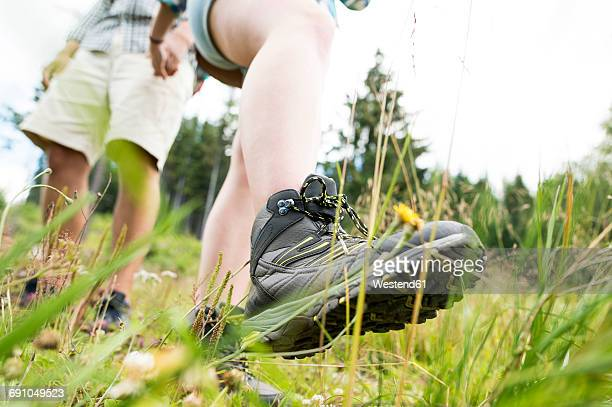 Close-up of couple on a hiking tour
