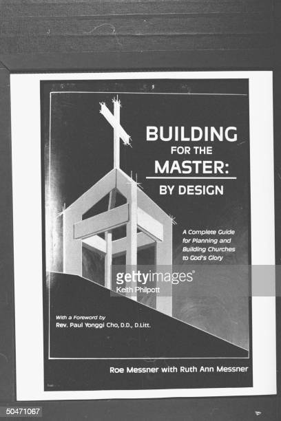 Closeup of cover of BUILDING FOR THE MASTER BY DESIGN a Complete Guide for Planning and Building Churches to God's Glory by church builder Roe...