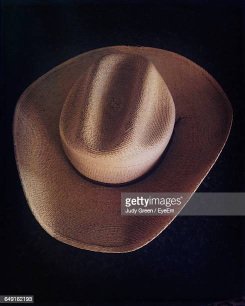 Close-Up Of Cowboy Hat On Black Background
