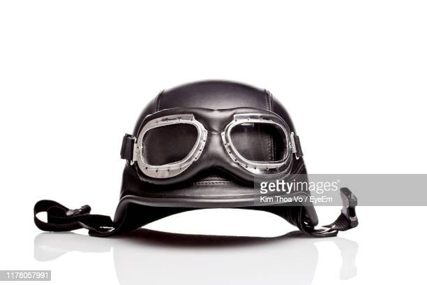close-up of crash helmet against white background - crash helmet stock pictures, royalty-free photos & images
