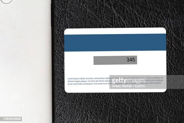 Close-Up Of Credit Card On Table