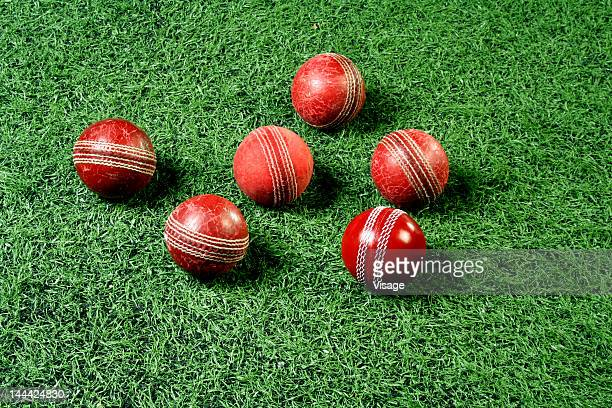 Close-up of Cricket balls