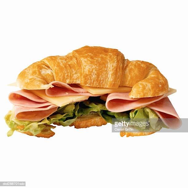 Close-up of croissant sandwich