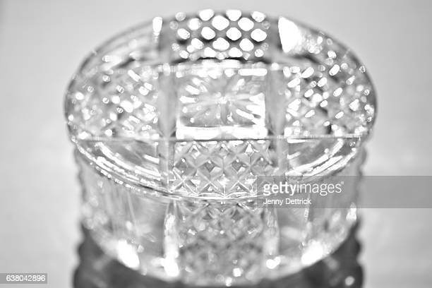 Close-up of crystal jewellery box