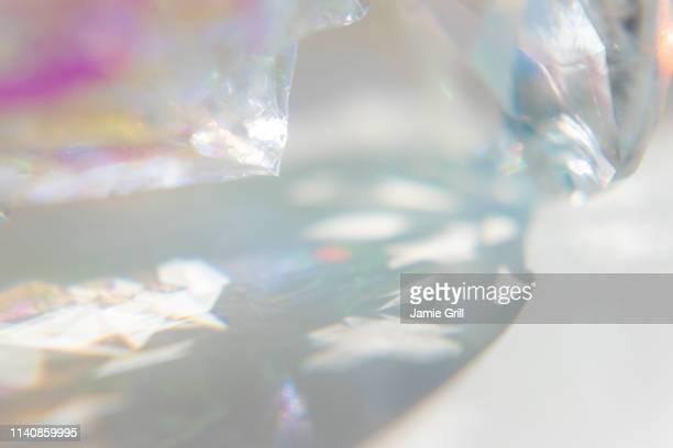 close-up of crystal - crystal stock pictures, royalty-free photos & images
