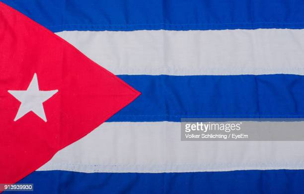 close-up of cuban flag - cuban flag stock pictures, royalty-free photos & images