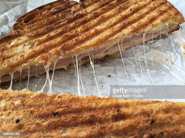 close-up of cuban sandwich on table - cuban culture stock pictures, royalty-free photos & images