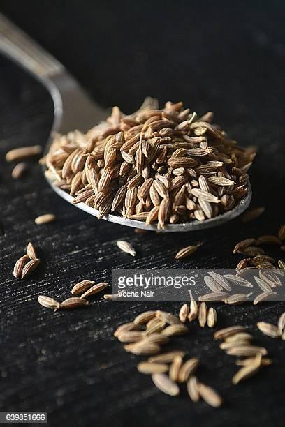 Close-Up of Cumin seeds (Cuminum cyminum)/Jeera