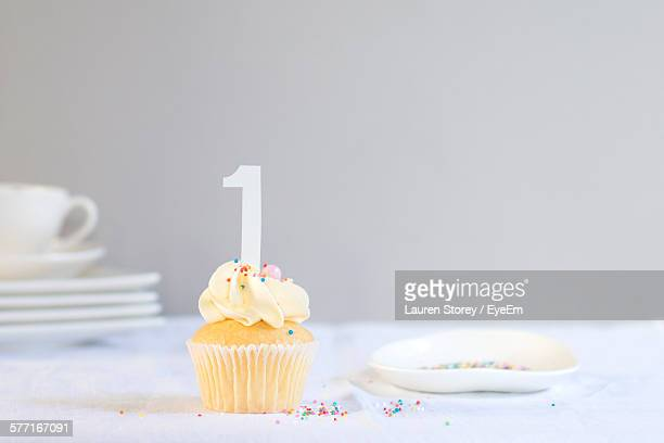 Close-Up Of Cupcake On Table