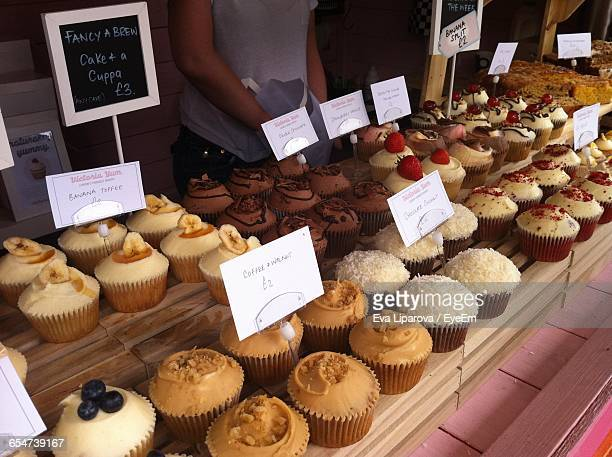 Close-Up Of Cupcakes For Sale