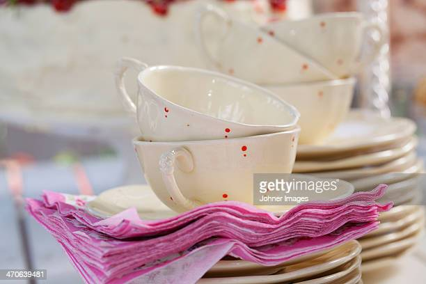Close-up of cups